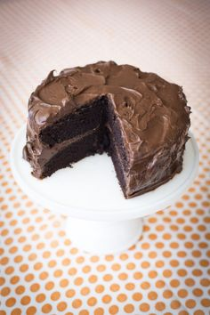 The ultimate One Bowl Chocolate Cake...Everyday Food's take on the perfect chocolate cake.   DonalSkehan.com
