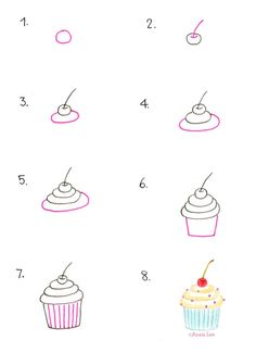 How to Draw a Cupcake by Anais Lee