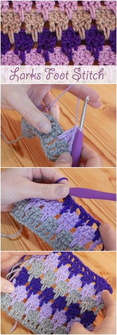Crochet Patterns Stitches Crochet Larks Foot Stitch Ideal For Blankets Crochet Stitches Patterns, Baby Knitting Patterns, Crochet Motif, Knitting Stitches, Crochet Baby, Free Crochet, Knit Crochet, Tricot Simple, Crochet Instructions