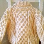 Hand-Knit Classic Irish Sweater Design only - no pattern but easy to recreate
