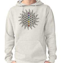 Sudadera con capucha Chakras, Flower Of Life, Zen, Graphic Sweatshirt, Hooded Sweatshirts, Cowls, Spirituality, Chakra