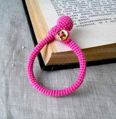 Crochet teething bracelet for Galilee to wear