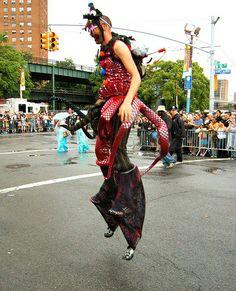 Coney Island Mermaid Parade 2009 - Pogo Stilts Justin Aubuchon by Whiskeygonebad, via Flickr Mermaid Parade, Coney Island, Harem Pants, Fashion, Moda, Harem Trousers, Fashion Styles, Harlem Pants, Fashion Illustrations
