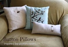 Running With Scissors: Button Throw Pillow Covers
