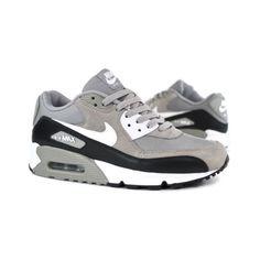 Nike Air Max 90 - Medium Grey/Black-White   Sneaker Obsession found on Polyvore