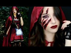 Little Red Riding Hood Halloween Makeup Tutorial & Costume! – Candle Making Little Red Riding Hood Halloween Costume, Creepy Halloween Costumes, Classic Halloween Costumes, Red Riding Hood Costume, Halloween Makeup Looks, Halloween 2018, Vintage Halloween, Vintage Witch, Halloween Stuff