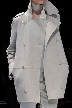 Light grey double breasted coat/jacket by MaxMara Fall 2012