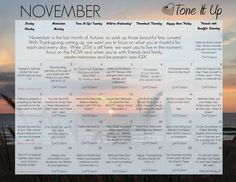 Holiday HUNNIES!!! Your Weekly Schedule & November Calendar