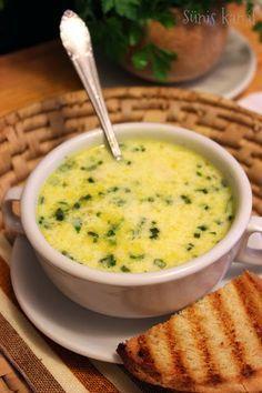 Sünis kanál: Zöldfűszeres sajtkrém-leves
