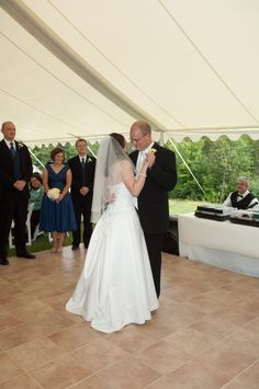 First dance at a wedding reception at The Alpine Homestead in the Adirondacks in upstate NY First Dance, Homesteading, Special Events, Wedding Reception, Wedding Dresses, Fashion, Marriage Reception, Bride Dresses, Moda