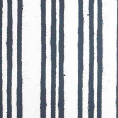 Paper Boy Stripe Childrens Wallpaper in dark blue