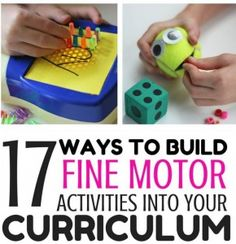 OT Corner: 17 Ways to Build Fine Motor Skills Into Your Curriculum - pinned by @PediaStaff – Please Visit ht.ly/63sNtfor all our pediatric therapy pins