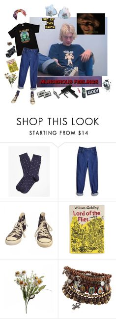 """Got your finger on the trigger kid"" by short-skirt-long-jacket ❤ liked on Polyvore featuring Brooks Brothers, Panasonic, Lee, Converse, Olympia Le-Tan, Abigail Ahern, CASSETTE, Chapstick and ALDO"