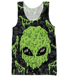 We know you're not quite like other earthlings, and we know you'll love this trippy Straight Drippin Tank Top! This badass all-over-print design features an ill