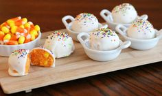 Make Candy Corn Cookie Truffles - No Baking Required!