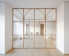 Ø House is a minimalist residence located in Madrid, Spain, designed by BETA.Ø architecture office Architecture Office, Architecture Design, Office Buildings, Chinese Architecture, Futuristic Architecture, Modern Buildings, Raised House, Appartement Design, Spanish House
