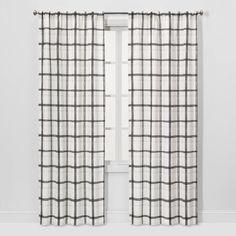 East Urban Home Herringbone Room Darkening Rod Pocket Curtain