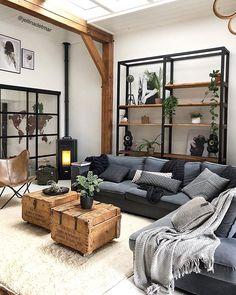 Dark Living Rooms, Home Decor Inspiration, House Design, Home, Living Dining Room, New Living Room, House Interior, Apartment Decor, Living Room Designs