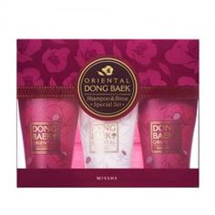 Oriental Dong Baek Set with two shampoos and one conditioner #Missha