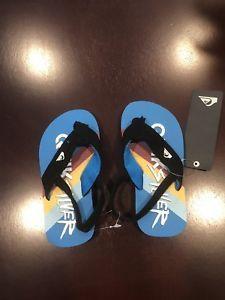 44946e5e1f4e Quiksilver flip flops size 9 XL Boy s Toddler 2-7 Molokai Layback Sandals