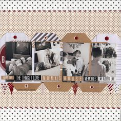 I loved designing with the Teresa Collins' line: My Name Is.I love the kraft color mixed with pops of deep red and black. So much fun! Scrapbook Travel Album, Scrapbook Pages, Scrapbook Layouts, Scrapbooking Ideas, Red Crafts, Paper Crafts, Teresa Collins, Thing 1, Hello My Name Is