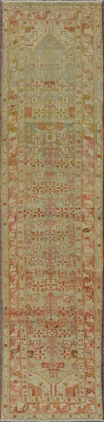 "KEIVAN WOVEN ARTS,   Type :Malayer Origin :Iran  Size : 3'2""x12'10""  Circa :1920"
