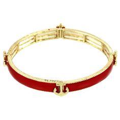 "Anchor Elastic Bracelet / Color: Red / Enamel / Gold Plated / Width: 3/8"". LAN001 http://www.amazon.com/dp/B00I6MBDIM/ref=cm_sw_r_pi_dp_E7.Mvb0XQVNEJ"