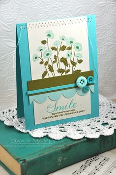 Enjoy Every Moment Card by Dawn McVey for Papertrey Ink (August 2013)