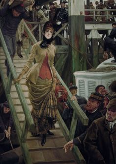 embarkation in Calais – James Jacques Joseph Tissot (French, 1836-1902).