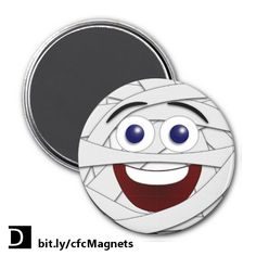 Add a little humor to your end of October fun. Leo the Laughing Smiley has dressed up as a mummy for Halloween on this cute fridge magnet. https://www.zazzle.com/laughing_smiley_mummy_magnets-147131864298450247?rf=238083504576446517&tc=20170710_pint_SSOZ #StudioDalio emoticon