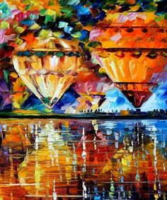 PRODUCT DESCRIPTION      Title: Balloon Reflections — PALETTE KNIFE Oil Painting On Canvas    Size: 50cm x 60cm (20″x24″)    Condition:Excellent Brand New    Medium:100% hand paintedoil painting on Canvas – Recreation of an older painting    Signature: Signed by the Artist    Frame: Gallery Wraped and Ready to Hang        About this oil painting:    BALLOON REFLECTIONS    FREEDOM OF IMPRESSIONISM FOR IDEAL BALLOON FESTIVAL    Original impressionist oil paintings give atouch of luxuryto…