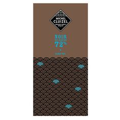 Michel Cluziel 72% dark bar: smooth on the palate and round in the mouth, with classic, creamy, dark chocolate cacao flavor. Very aromatic with a long finish.
