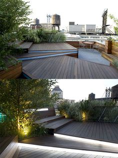 Illuminated Rooftop Terrace is an urban roofscape by landscape architect Terrain-NYC