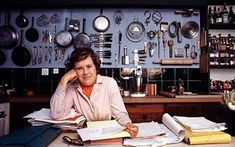 Julia Child used a peg board to organize and store kitchen utensils and pots and pans. I am going to try the same in my kitchen. I actually cook every day and this looks useful.