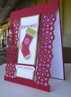 Christmas with Lace Ribbon Border Punch   # Pin++ for Pinterest #