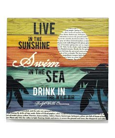 Look what I found on #zulily! 'Live in the Sunshine' Wall Art by Jozie B #zulilyfinds