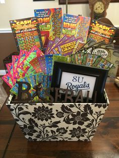 Baseball and Lotto Tickets Silent Auction Basket