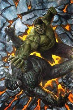 Hulk Vs Superman, Hulk Marvel, Marvel Dc Comics, Spiderman, Avengers, Marvel And Dc Characters, Marvel Comic Character, Comic Book Characters, Character Art