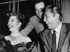 Rita Hayworth, Jack Lemmon & Robert Mitchum