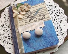 Bird Altered Composition Book Journal in Blue by fabulousfinds, $10.00