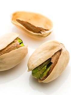 Pistachios are slimming. Eating two ounces daily may reduce lung cancer risk. They have a good source of B6 which can lift your mood.