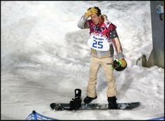 Shaun White does not look pleased.