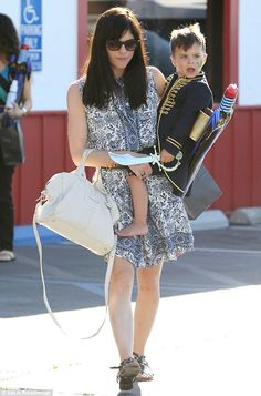 Ahoy there: Selma Blair left a birthday party in Los Angeles on Saturday with her son Arth...