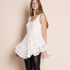 Lace Flare Tank Top S m or l Bare Anthology Tops