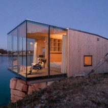 Dezeen has teamed up with online network Holidayarchitecture to give away five copies of a book featuring architecturally interesting places for holidaymakers to rent, including glass and timber cabins and a symmetrical concrete house. Building A Container Home, Container House Design, Container Homes, Architecture Cool, Timber Cabin, Floating House, Glass House, Exterior Design, Dezeen
