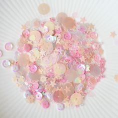 English Rose Sparkly Shaker Selection - Seed Beads, Sequins and Confetti £2.99