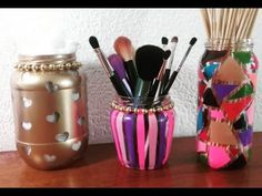 Recicla frascos de vidrio! MakeUpDek - YouTube
