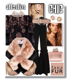 """Genuine Glamour In Faux Fur"" by sharee64 ❤ liked on Polyvore featuring Jimmy Choo, Anine Bing, Free People, Christian Siriano, Alexis, Ted Baker, Head Over Heels by Dune, SANDERSON, Michael Kors and MVMT"
