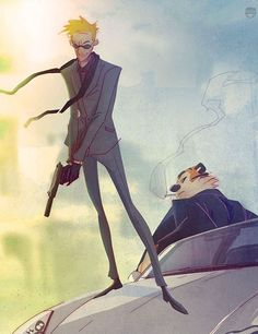 Secret Agent Calvin Hobbes. i love when they redo calvin and hobbes