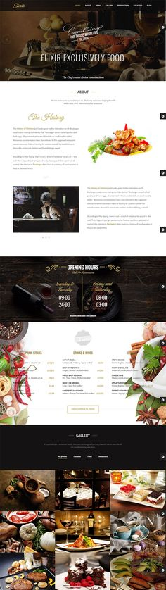 Wordpress theme perfect for Restaurant, Bakery, any food business and personal chef web sites.